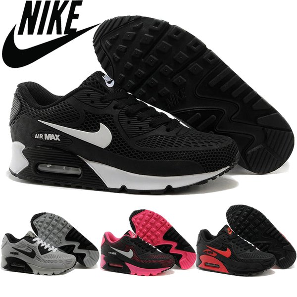nike air max 90 kpu black white red mens running shoes