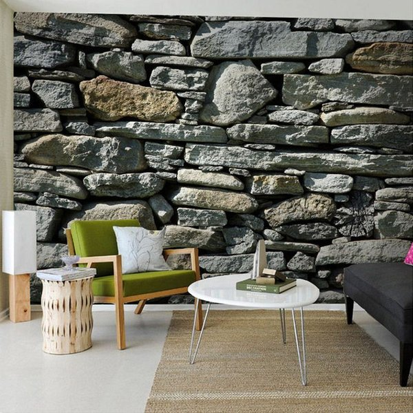 3D Stereo Stone Brick Pattern Large Mural Wallpaper Living Room Bedroom TV Background Walls 3D Photo Wallpaper Papel De Parede
