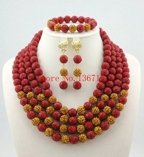 2016 New White African Coral Beads Jewelry Sets Fashion Nigerian Wedding African Beads Jewelry Set HD401-3
