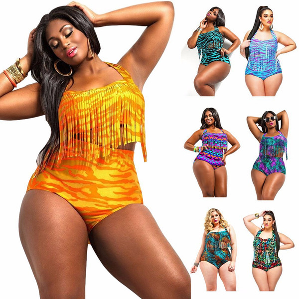 2017 Plus Size Swimwear The New Fat Women Bathing Suit European ...