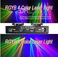 Quad 820mW Red+Green+Blue+Yellow DJ Laser Light CLUB BAR Christmas DMX Stage Lighting Show Equipment