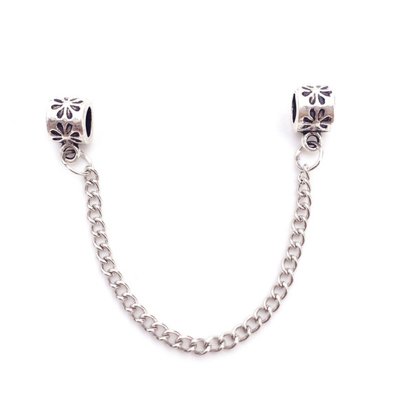 best selling Safty Chain For Charm Bead Bracelet Fashion Women Jewelry 925 Silver Stunning Design European Style For Pandora 9cm Length