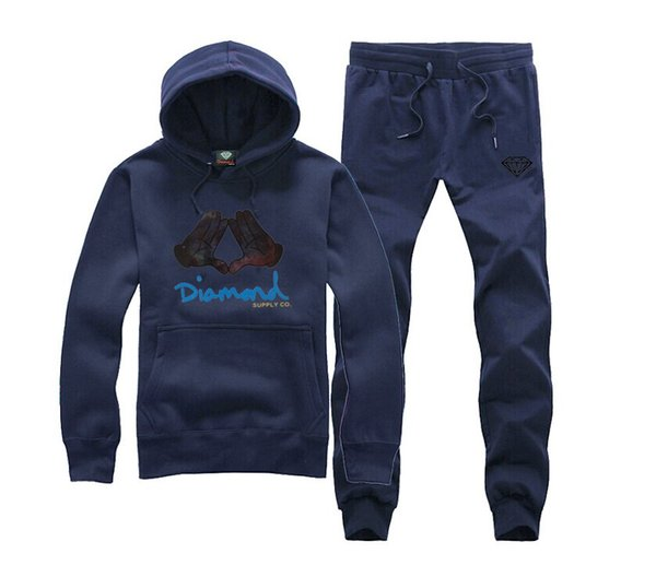 s-5xl G2805 free shippinmg new style o-neck hip hop Diamond Supply sweat suit Fashion Autumn Mens Tracksuits