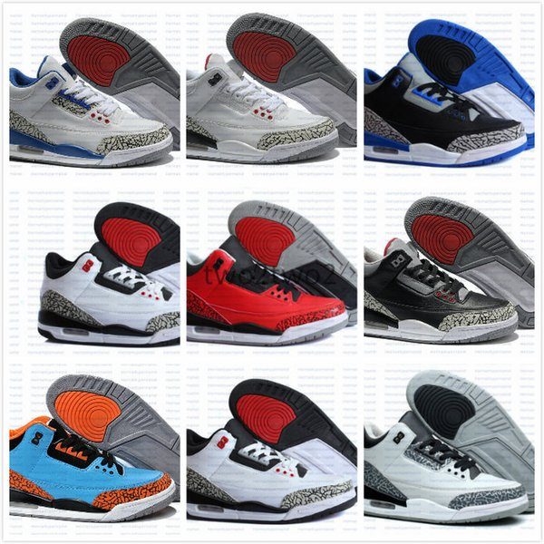 best cheap ef9b7 6b3f1 Cheap Top Quality Retro 3 Cement Gs Infrared Wolf Grey Basketball Shoes Men  Women Retro Iii Basketball Shoes Sports Athletic Shoes Us 5.5 13 ...