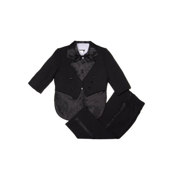 Boys formal suits three-piece boys wedding occasion suits tuxedo pure color double-breasted boys suits(jacket+pants+vest+bow tie)