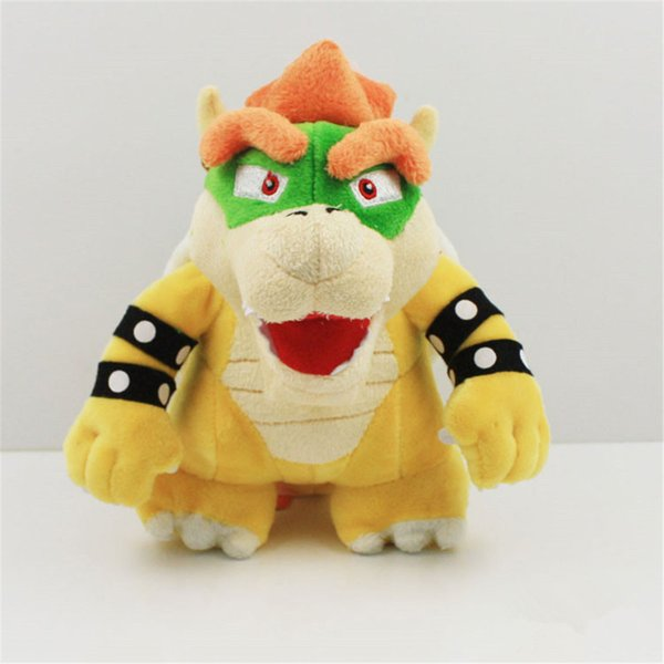 "50pcs Fast shipping 7.8INCH SuperMario Games Anime dolls plush toys plush toy 7.8"" 20cm BOWSER Plush Doll Figure Toy"