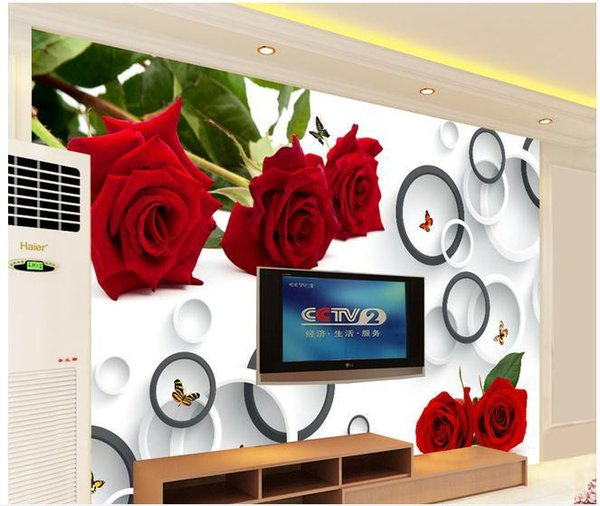 Papel de parede Rose 3D fashion ring mural wall sticker new large wallpaper wall paper costomize size 8984196