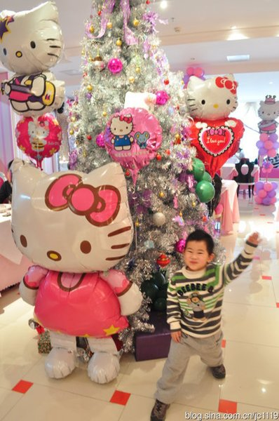 Cartoon Hello Kitty cat large balloon 116 * 68cm air balloons birthday/ party/wedding foil balloons children classic baby toys Free Shipping