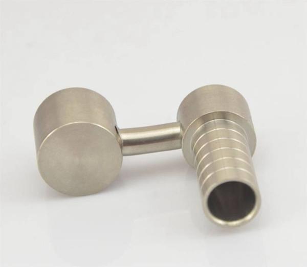 Cheap 10mm titanium domeless nail new honey buckets titanium nail glass smoking pipes free shipping