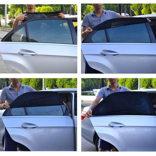 TFY Universal Side Window Sunshade - Fits most of Car Models - Protects Your Kids from Sun Burn - Double Layer Design -