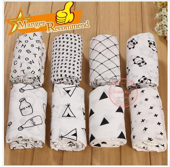 """top popular Baby Cotton Bamboo Wrap Newborn INS Swaddleme Muslin Swaddling Blanket Infant Swaddle Towel Famous Multifunctional 120x120cm 47*47"""" 2020"""