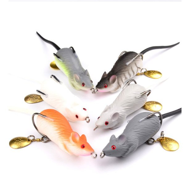 6PCS Lifelike Mouse Soft Baits Bionic Frog Fake Baits 11.6g 6.8cm Bass Plastic Fishing Lure for Fishing Snakehead