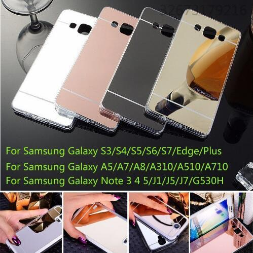 Mirror Electroplating Case Soft Clear TPU Shock-Absorption Bumper Protective Cover For Samsung Galaxy C5 C7 C9 Pro G530 J1 Ace J1 mini