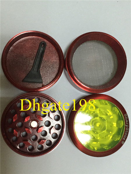 best selling Wholesale Clear top sharpstone herb grinder smoking dry herb metal grinders for tobacco sharpstone 40mm 50mm 55mm 63mm