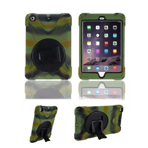 100Pcs/Lot New Arrival Newest Shock Resistant Hybrid Heavy Duty Stand Tablet Case Cover with Holder For iPad Mini 1/2/3