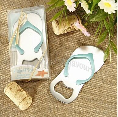 Free Shipping 100PCS Flip Flop Bottle Opener Wedding Favors Beach Theme Bridal Shower Party Event Favors Party Decors Ideas