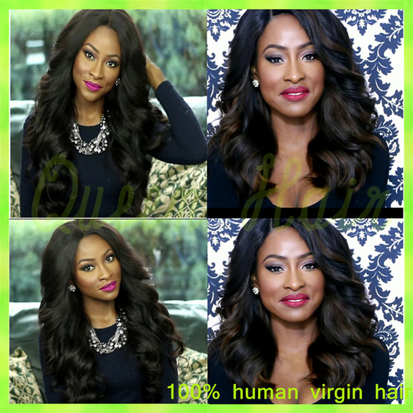 Affordable Glueless Full Lace Wig Brazilian Virgin Hair Glueless Full Lace Human Hair Wigs Wavy Lace Front Wigs for Black Women