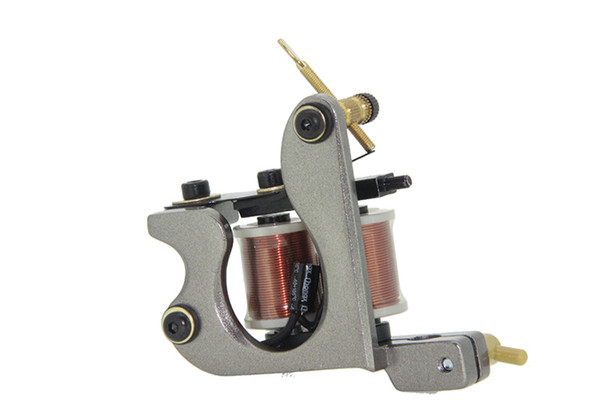 Professional Casting Iron Tattoo Machine 10 Wraps Coil Stainless Steel Tattoos Body Art Gun Makeup Machine Free Shipping