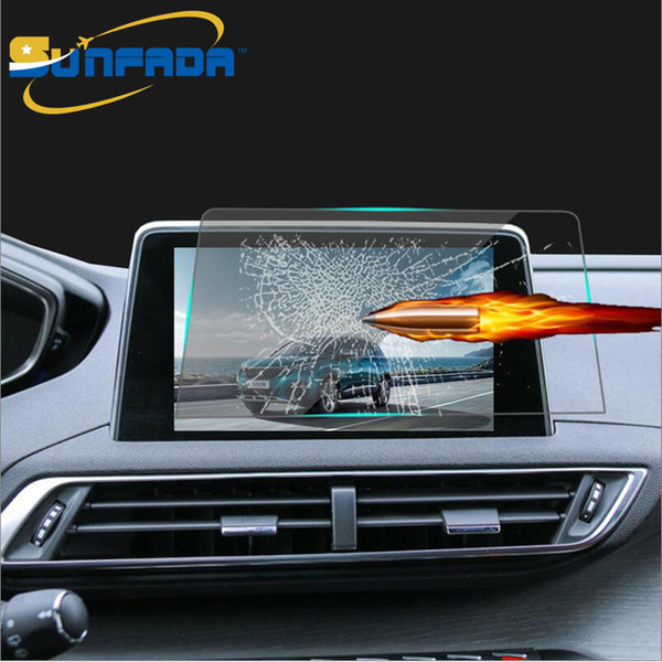 8 inch Car Navigation Tempered Glass Screen Protector LCD Steel Protective Film FOR PEUGEOT 3008 3008GT 5008 5008GT 2017 2018 Car-styling