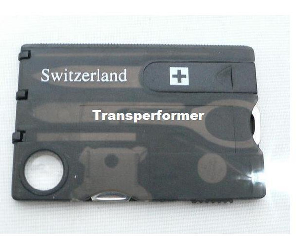 Swizerland 12 IN 1 Credit Card Tool Knife Blade Business Card Knife Card(OEM) 10 pcs/lot