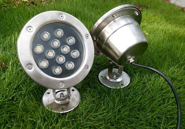 MOQ100 12 W 12 V Lumière Sous-Marine LED Extérieure Étanche IP68 Haute Puissance Jardin Aquarium Piscine Lumières Lampe Rouge Bleu Vert Cool blanc