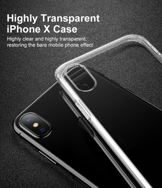 For iPhone XS Max XR S10+ S10e Note9 Crystal Clear Soft Silicone Transparent TPU Case Cover for Xiaomi Mi 9 Redmi 7 HUAWEI P30 Mate 20 Pro