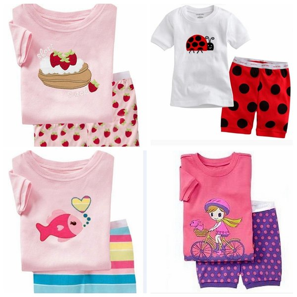 2018 Children Cartoon Pajamas Sets Girls Summer Pyjamas Kids Short Sleeve Pajamas Baby Girl Sleepwear Pajama Infantil