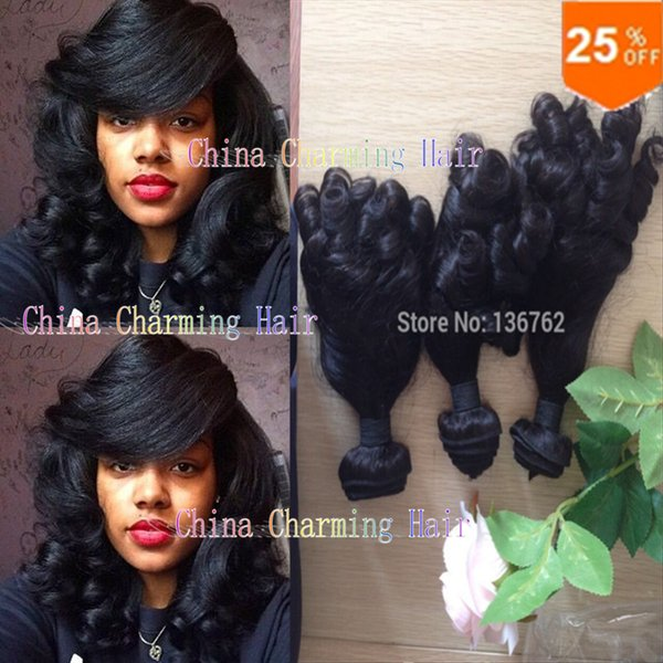 7a grade Nigeria Aunty Funmi Hair Unprocessed Human Hair Extensions Virgin Spiral Curls 3 Bundles,Bouncy Curly 3 PCS Lots