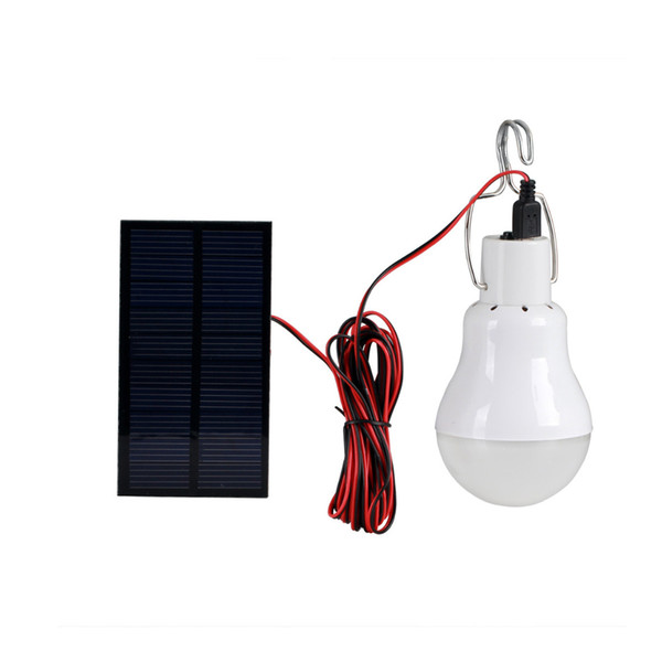 Free Ship to Puerto Rico Solar Powered LED Bulb Lamp 5V 150LM Portable Solar Energy Lamp Energy Solar Camping Light