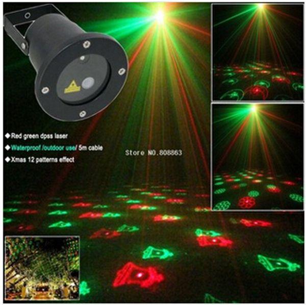 Promosyon! Su geçirmez Açık Lazer Firefly Sahne Işıkları Peyzaj Kırmızı Yeşil Projektör Noel Bahçe Sky Yıldız Çim Lambaları Süslemeleri