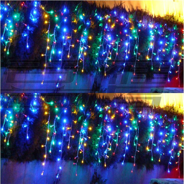 8*0.65m 192 bulbs LED Curtains Garland string light christmas new year holiday party wedding luminaria decoration lamps lighting