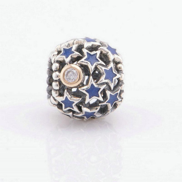 stardust beads sterling silver star jewelry fits for pandora style bracelets S925 sterling silver free shipping European hot sale LW412