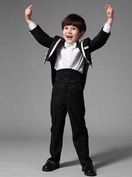 .Children suits The boy tuxedo suits flower boys gown show formal wear assorted colors suits (jacket+pants+belt) Custom made