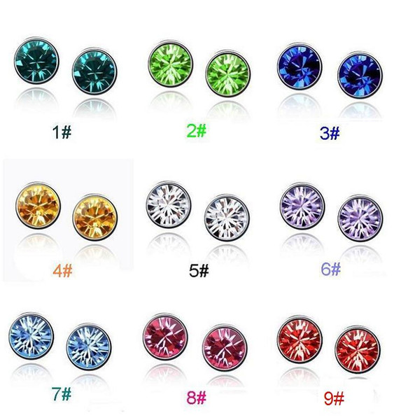 top popular Silver Stud Earrings Jewelry for Women Girl Party Gift Hot Sale Crystal Earring Wholesale Free Shipping - 0001LDE 2019