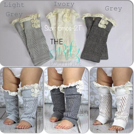 Baby Mädchen Spitze Strümpfe Socken Knöpfe Beinlinge Leggings Baumwollsocken Baby Mädchen Weihnachtsstrümpfe Rohrsocken