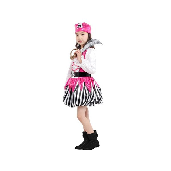 e54fbc51526c7 2015 New coming Pink Children's Halloween costume show costumes Pretty  Little Pirate dress pink cosplay clothing