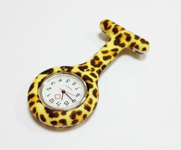Il leopardo della zebra di colori della caramella dell'orologio della tasca dell'infermiere del silicio stampa il modello della guardia della ragazza della fibula della banda morbida 11 che spedice liberamente Nuovo