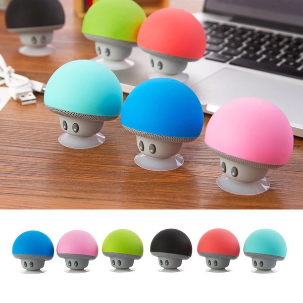 best selling BT280 Mini Mushroom Speakers Subwoofers Bluetooth Wireless Speaker Silicone Suction Cup Cell Phone Tablet PC Stand Free Shipping