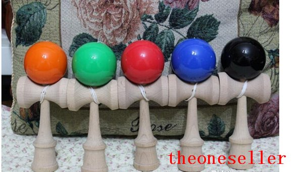 19CM Kendama Ball Large Size Japanese Traditional Wood Game Toy Education Gift 18 Colors 150pcs/lot