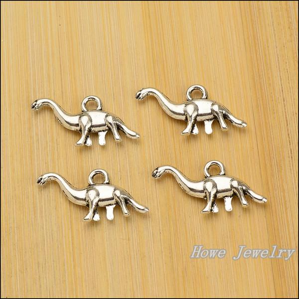 Charms Antique Plated Silver Zinc Alloy Dinosaur Fit Pendant Bracelet Necklace DIY Jewelry 120 pcs/lot 27*13mm