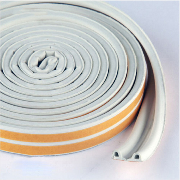 Wholesale- E-type 9x4 doors and windows sealed soundproof white strip self-adhesive foam rubber EPDM weatherstrip free shipping DS380-1