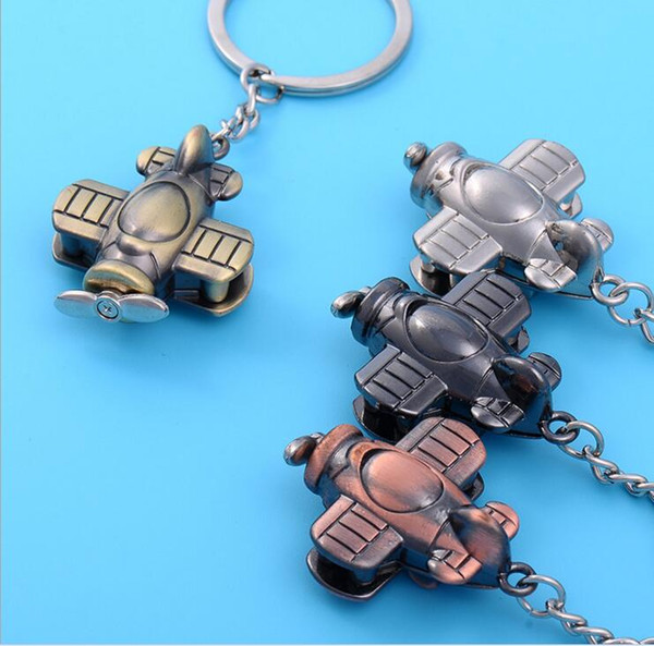 Wholesales Vintage Fashion Collection Creative B2 Stealth Bomber Model Keychain Aircraft Plane Keyring Key Chain Ring