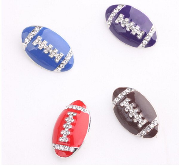 4 colors rhinestne snap button noosa button interchangeable button football button dropping shipping