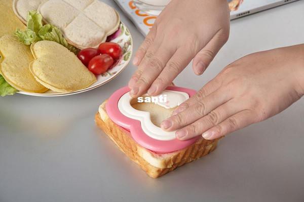Practical DIY Heart Shape Sandwich Maker Cake Cookies Kids Lunch Bread Mould Food Cutter