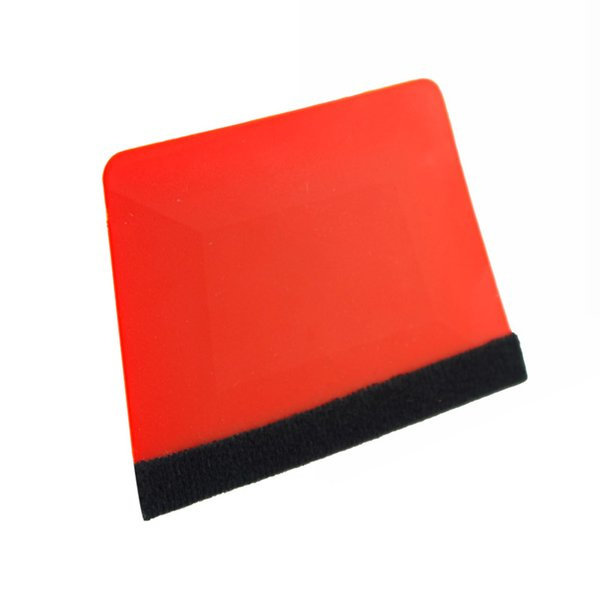 Free shipping Trapezium window tinting tools high temperature resistant durable 7.5*10.5cm Red solf squeegee with felt MX-196F