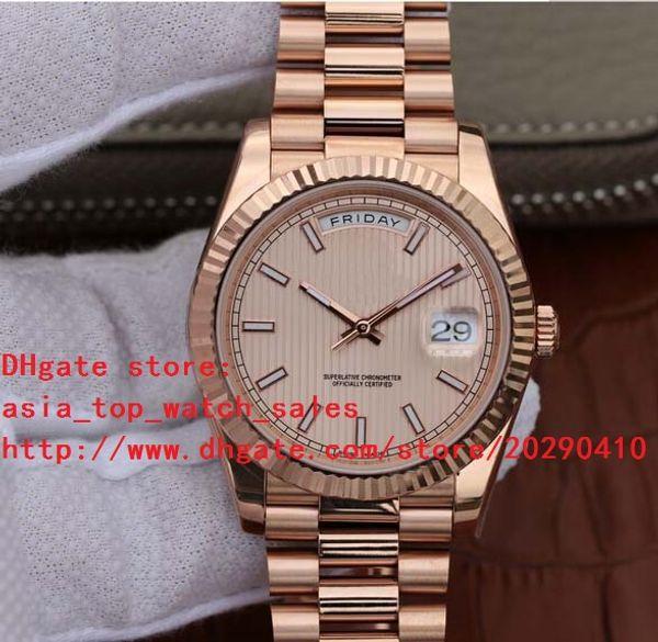 2 Couleurs Luxe Saphir Rose Or 41mm 228235 Automatique Mécanique Montre Homme Montres haut Montres de Mode