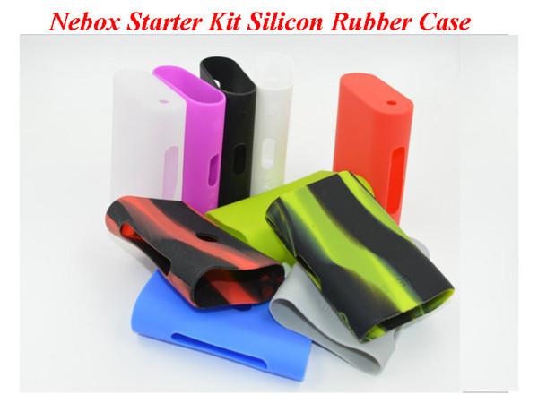 Kit de inicio de Nebox Funda de silicona Estuches de silicona Bolsa Funda de goma Cubierta protectora Piel de gel de sílice para Kanger Nebox Kit