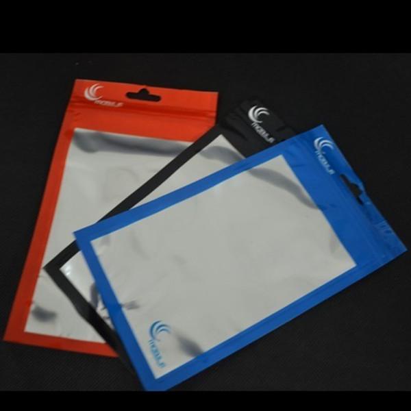 20 * 11.5 cm 18 * 10 cm alume + Limpar Auto Seal Zipper Plástico Retail Packaging Bag saco ziplock Pacote de Varejo Com Furo Cair