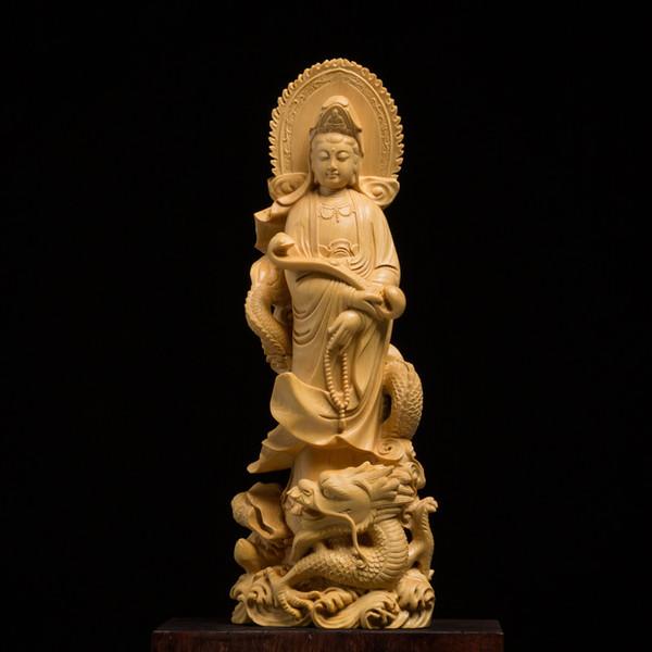 Wood bouddha statue Buddha carving God buda estatua craft Guanyin Feng shui home Decoration wood Bud decors