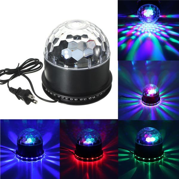 AC 110-265V Beautiful Design 48 LED Colorful RGB Crystal Magic Ball KTV Party Club Disco DJ Stage Lighting Effect Light Lamp